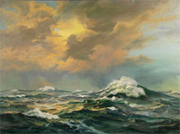 Seascape Painting, Shirley Bickel Evans
