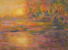 pastel landscape by Shirley Bickel