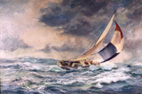 Ahead of the Wind Sailing Oil painting