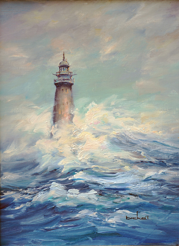 The Eye of the Storm - Minots Ledge Light, Mass.