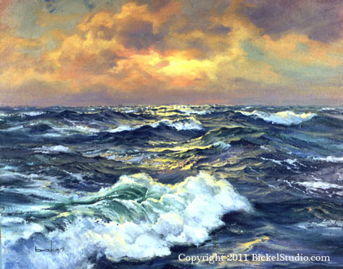 Seascape by Shirley Bickel Evans